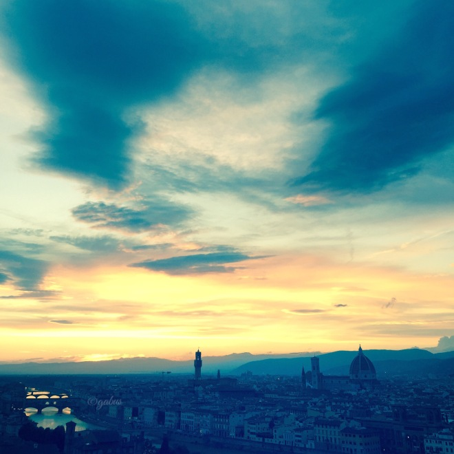 view of Firenze at sunset